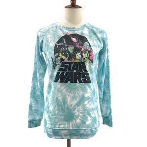 Fifth Sun Star Wars Tie Dye Graphic Sweater Small